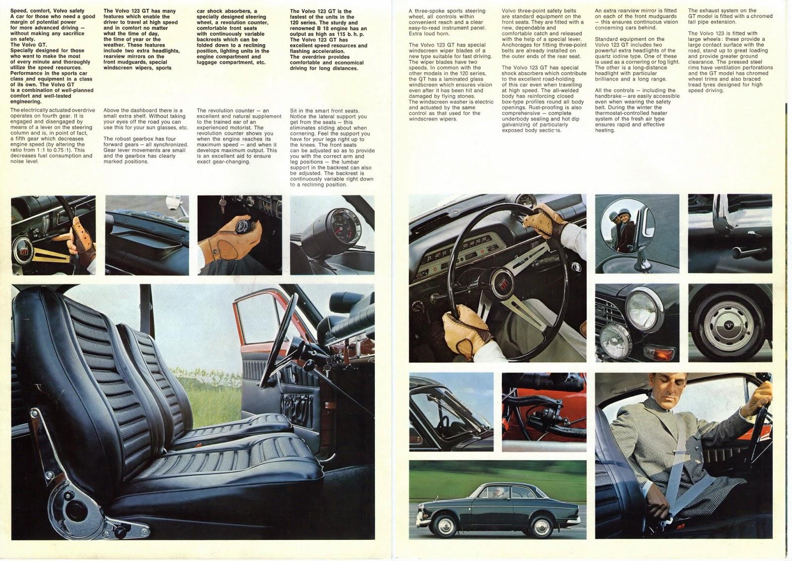Genuine Volvo 123GT sales brochure 1968 page 2 + 3