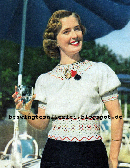 Free Pattern 1950's Knitting - Smocked Peasant Blouse