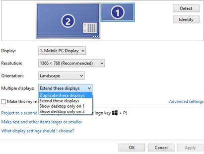 كيف يمكنك عرض حاسوبك على شاشتين،لتمديد سطح المكتب