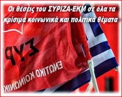 Οι θέσεις του ΣΥΡΙΖΑ-ΕΚΜ