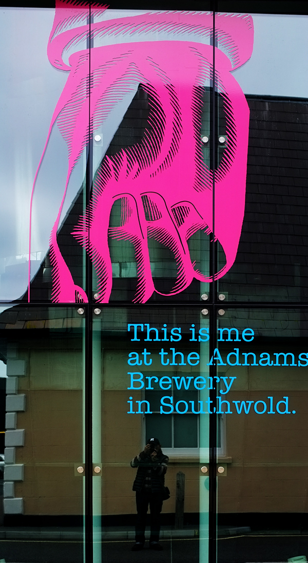 Me at the Adnams Brewery Southwold. Photograph by Tim Irving