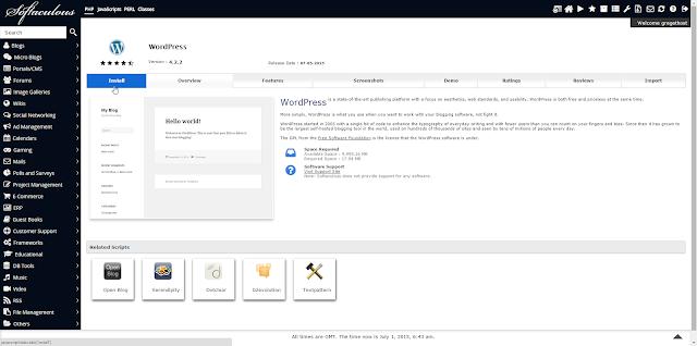 Cara Menginstall Wordpress pada Hosting dengan Softaculous