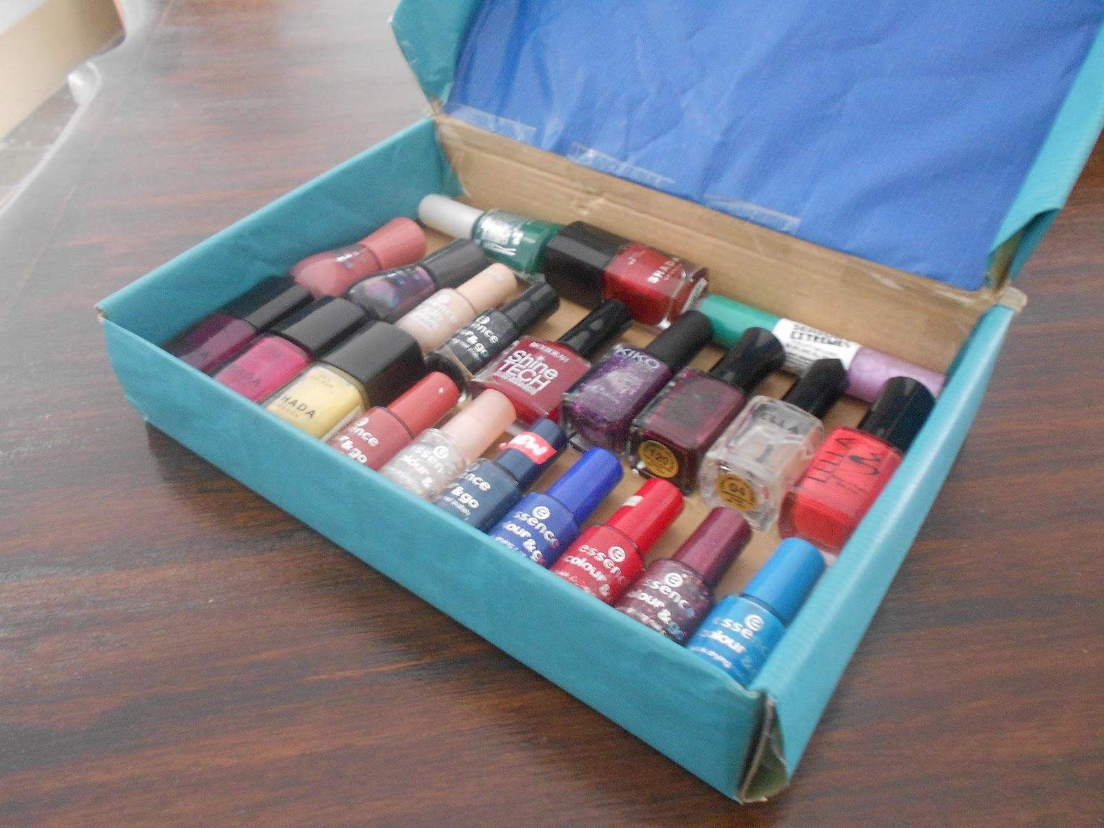 Beautybyalma mon nouveau rangement vernis ongles - Boite de rangement vernis a ongles ...