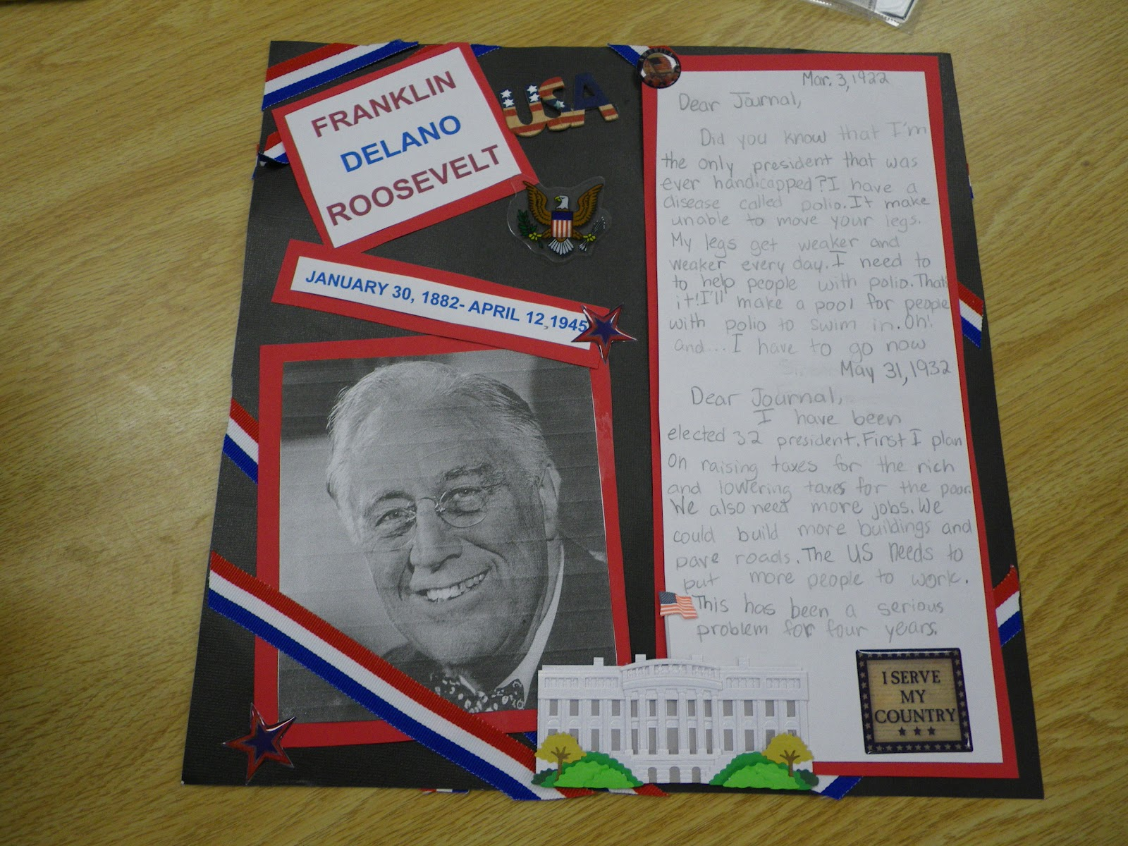 biography scrapbook book report