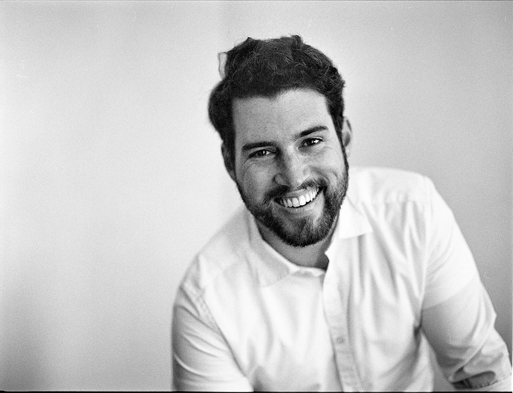 black and white portrait on tmax 400 mamiya rb67