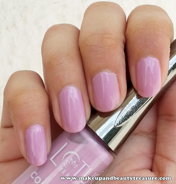 Lotus Herbals Colour Dew Nail Enamel '945 Lavender Love' Review & NOTD