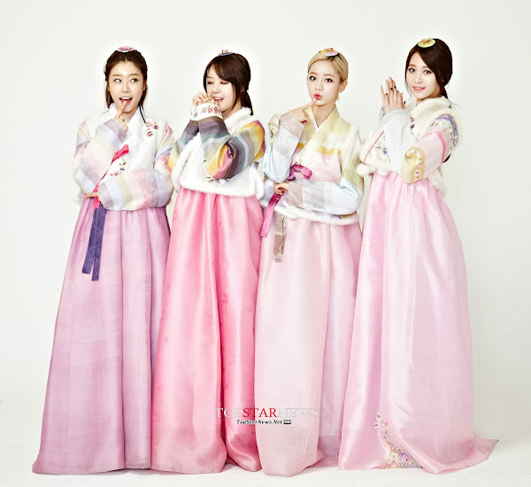 Girl's Day Lunar 2014 Hanbok