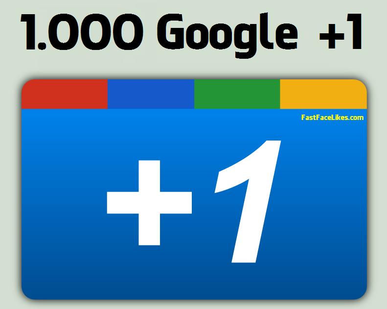 Buy 1000 Google Plus Ones