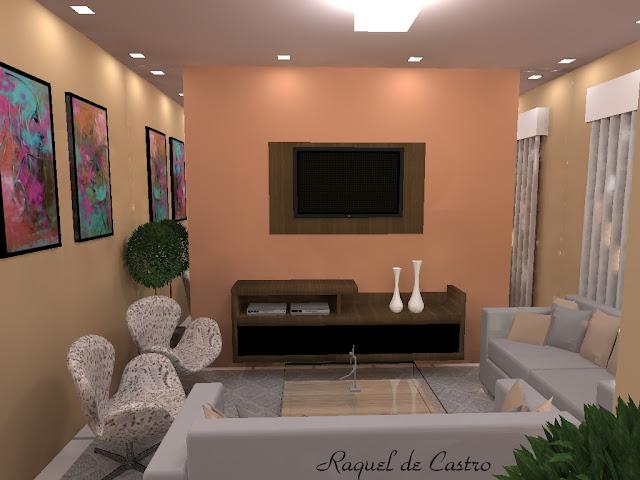 Ideias Para Pintar A Sala De Estar ~  que fiz, uma sala de estar com uma iluminação  Pintar Sala De Estar