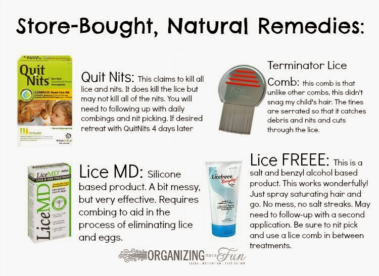 Store-bought, all natural lice remedies :: OrganizingMadeFun.com