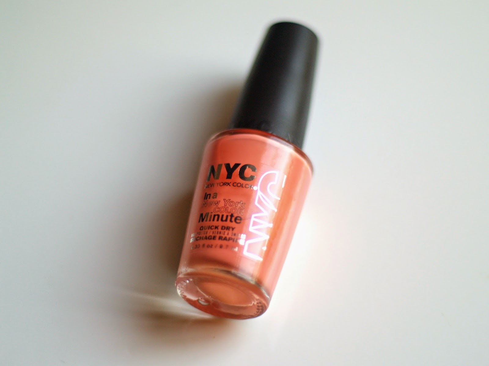 NYC In A New York Color Minute Quick Dry Nail Polish in Hamptons Peach