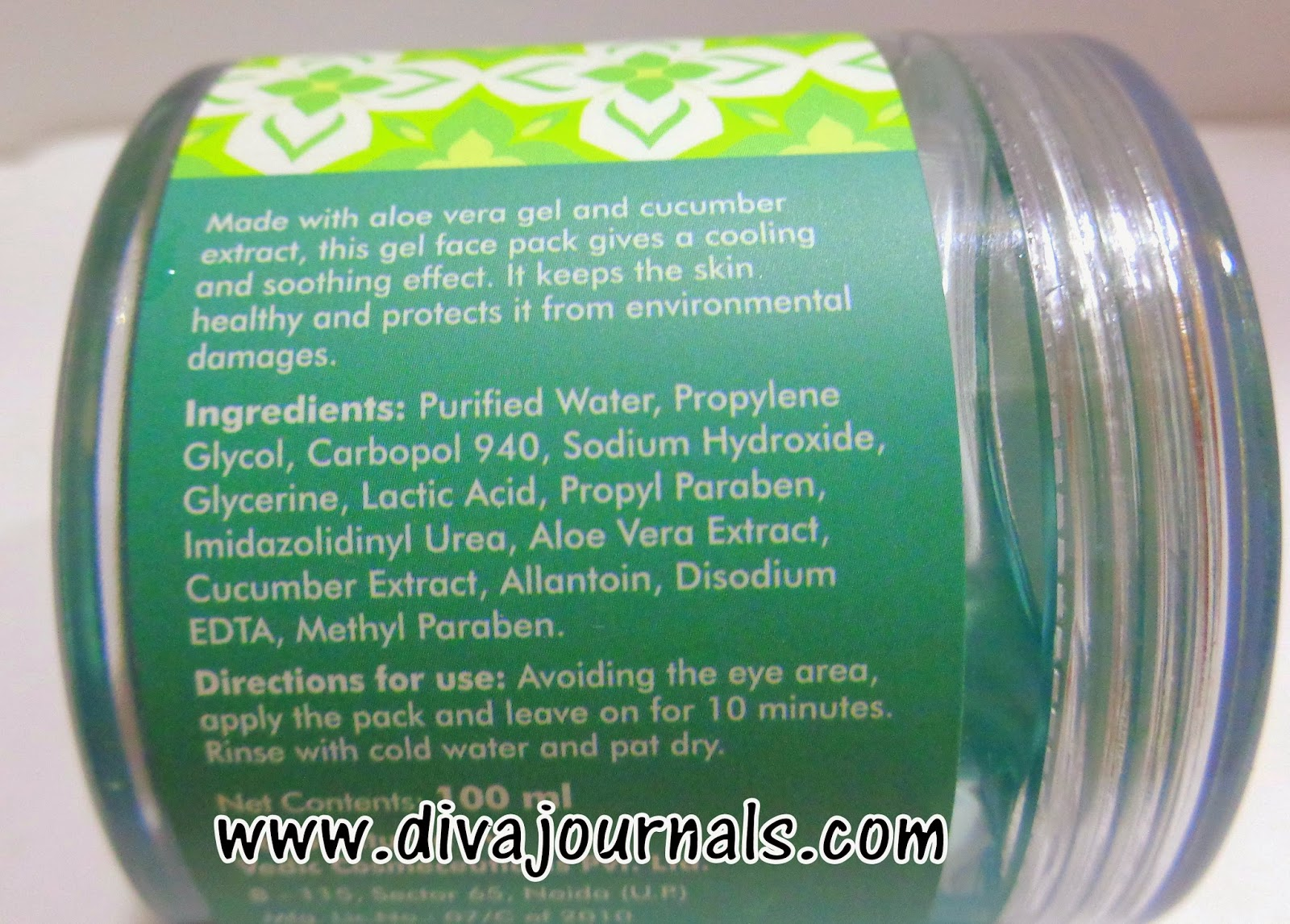 FabIndia Aloe Cucumber Gel Face Pack Review