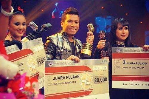 Syahz Pemenang Juara Pujaan TV2, senarai pemenang Juara Pujaan TV2 tahun 2015, gambar pemenang Juara Pujaan TV2, hadiah pemenang Juara Pujaan 2015
