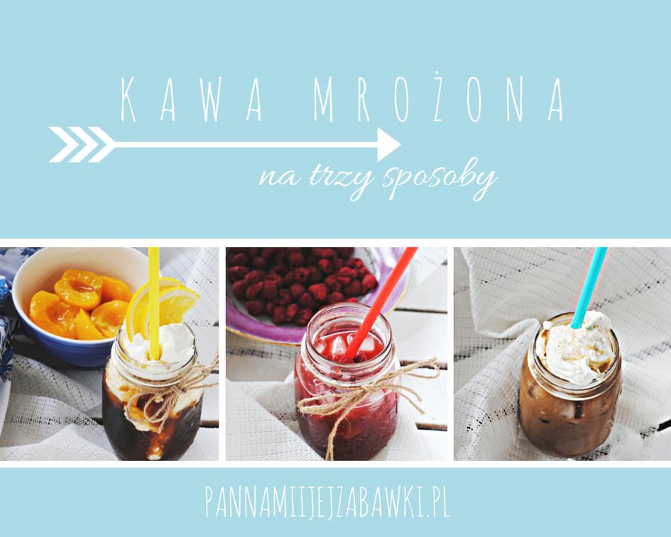 Kawa mrożona, kawa malinowa, kawa bananowa, kawa brzoskwiniowa, owocowe frappe