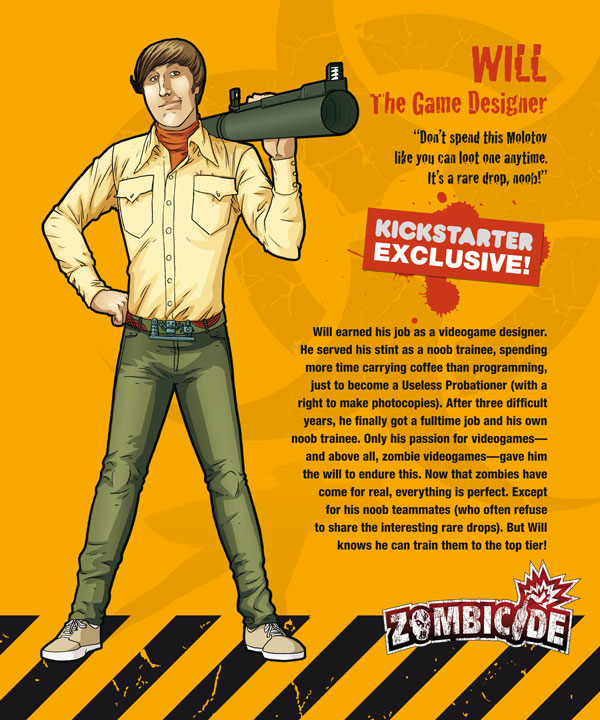 Zombicide personajes WILL