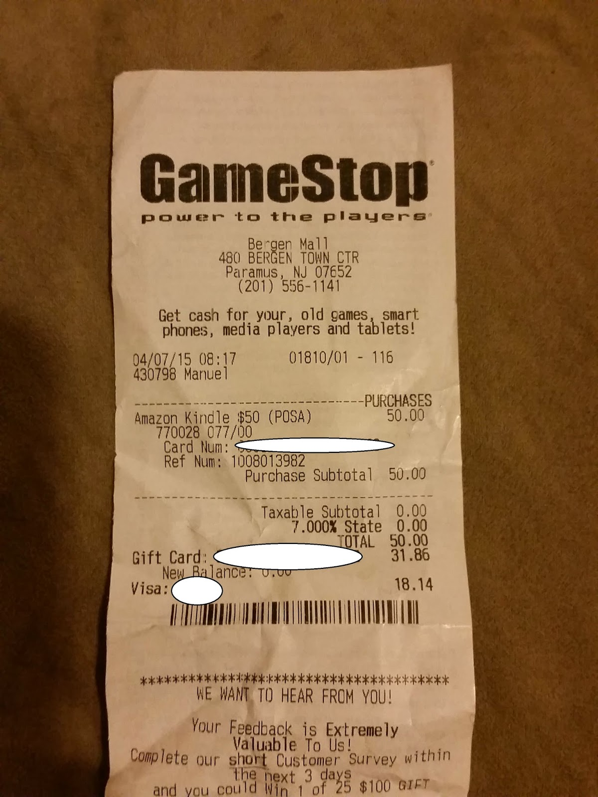 Oren's Money Saver: Upgrade GameStop Gift Card to Amazon Gift Card