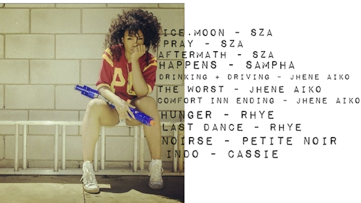 THE PLAYLIST 11.29: sza, saint heron, jhene aiko, cassie, rhye, sampha