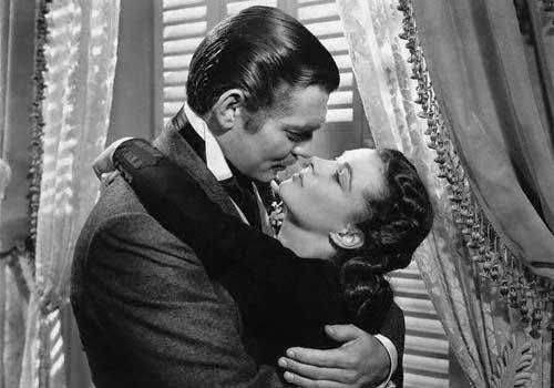 el mejor beso de la historia del cine en lo que el viento se llevó