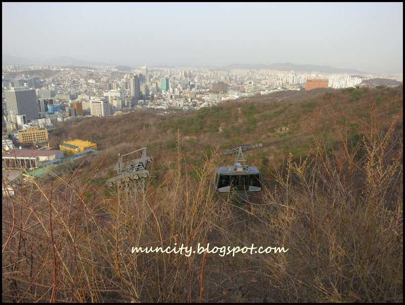 how to go to namsan tower by walking