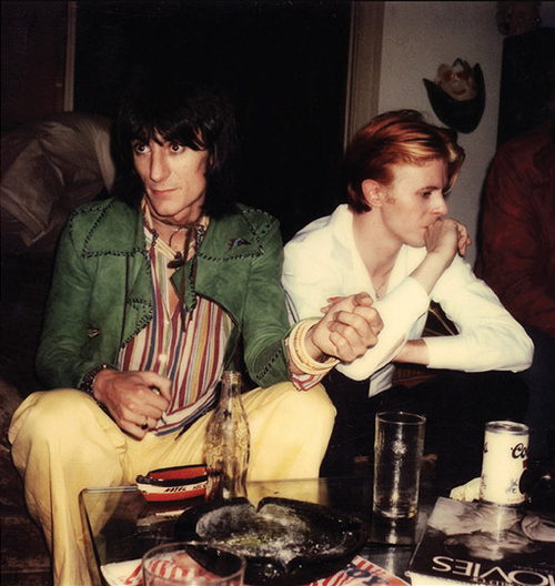 Ron Wood e David Bowie