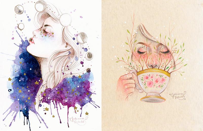 Você precisa conhecer: as aquarelas incríveis da Juliana Rabelo!