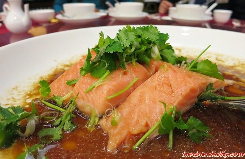 CNY 2015 Menu Review, Checkers Café, Dorsett Kuala Lumpur, Yee Sang, Salmon Pear Yee Sang, Steamed Salmon Fish, Virgin Soya Sauce