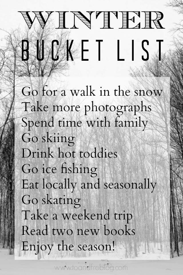 winter 2015 bucket list