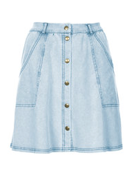 Topshop, SS 2015 denim look button skirt