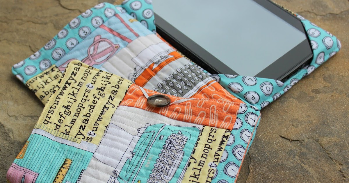 Quilted Book Cover Tutorial : My fabric relish quilted e book cover
