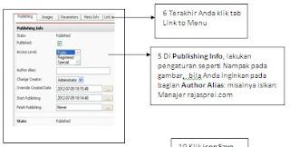 Cara membuat situs dengan joomla, menonaktifkan menu tertentu di joomla.