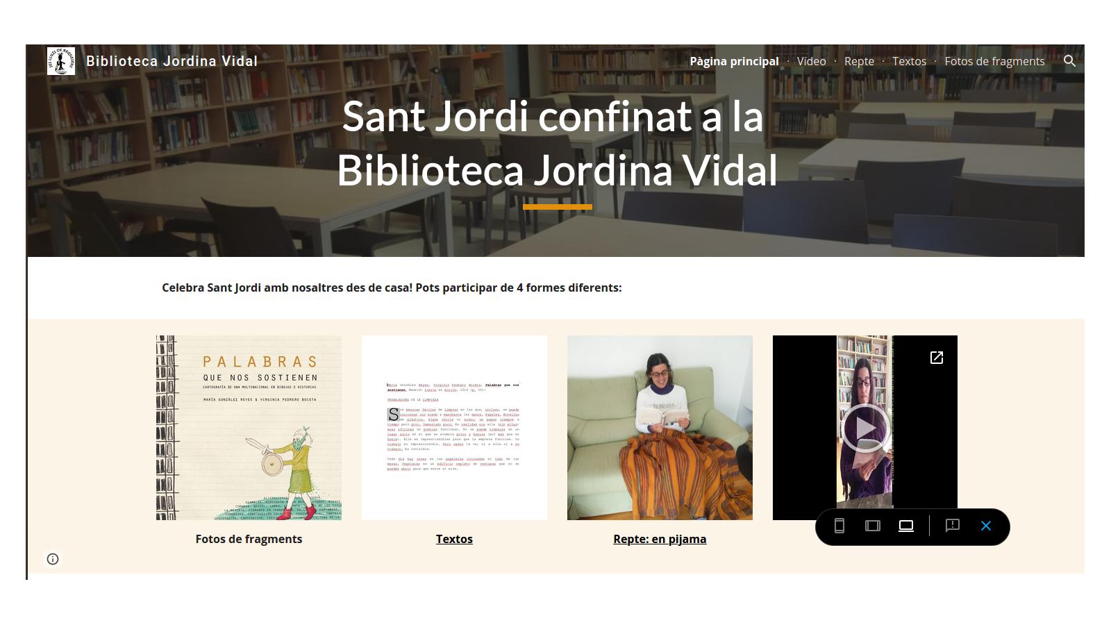 #SantJordiConfinat #AmbUnLlibreALaMà