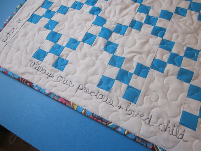 irish chain bereavement quilt