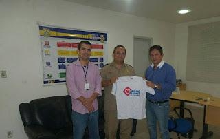 Coordenador do ATC esteve na superintendência da PRF solicitando ação educativa de trânsito na região