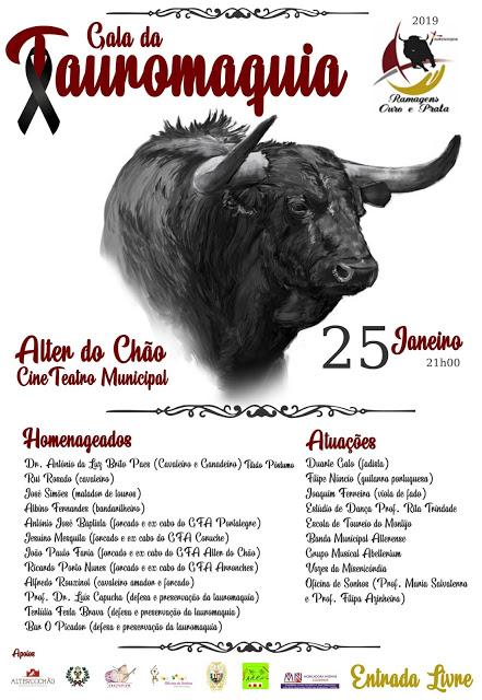 "ALTER DO CHÄO ""PORTUGAL"" 25-01-2019. GALA DA TAUROMAQUIA."