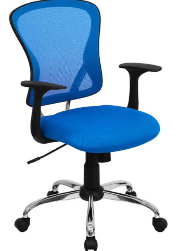 Flash Furniture Blue Mesh Chair