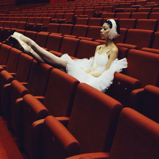 russian ballerina sitting in the audience