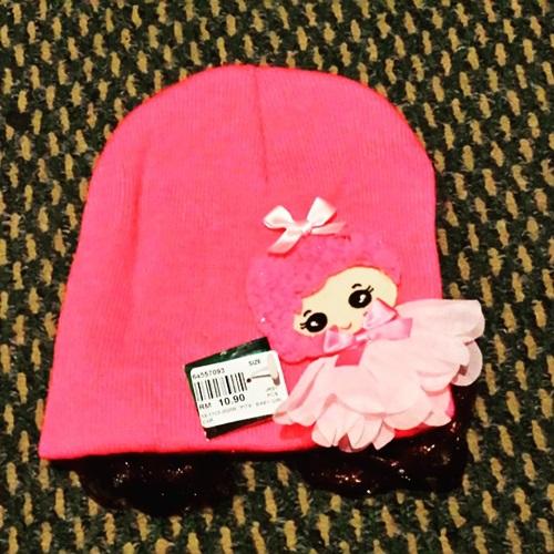 topi bayi, topi pink
