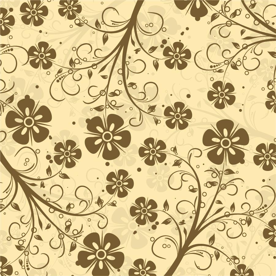シックな花柄の装飾パターン Decorative Floral Pattern Vector イラスト素材