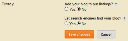 Blogger privacy settings