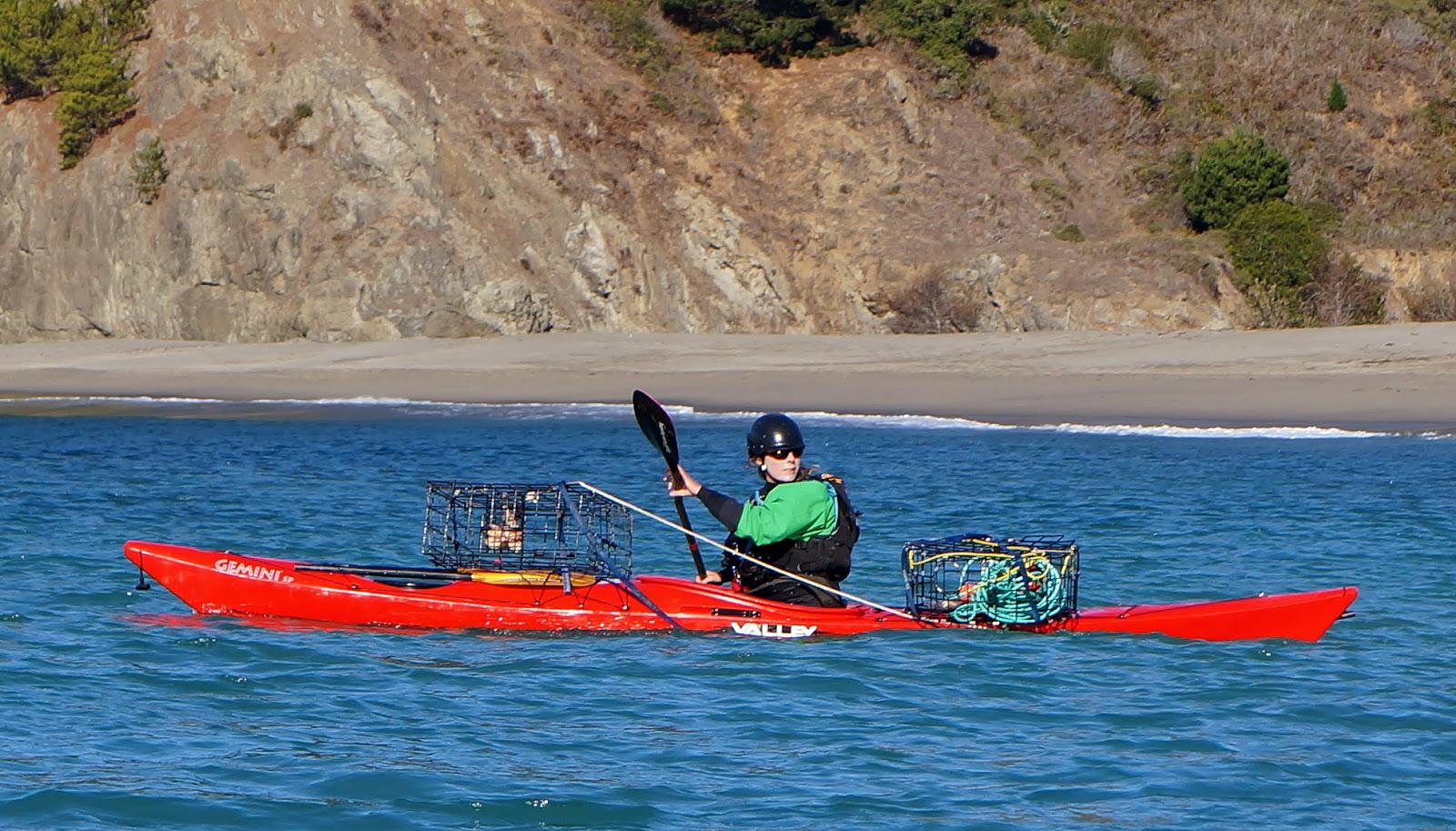 kayak, crabbing