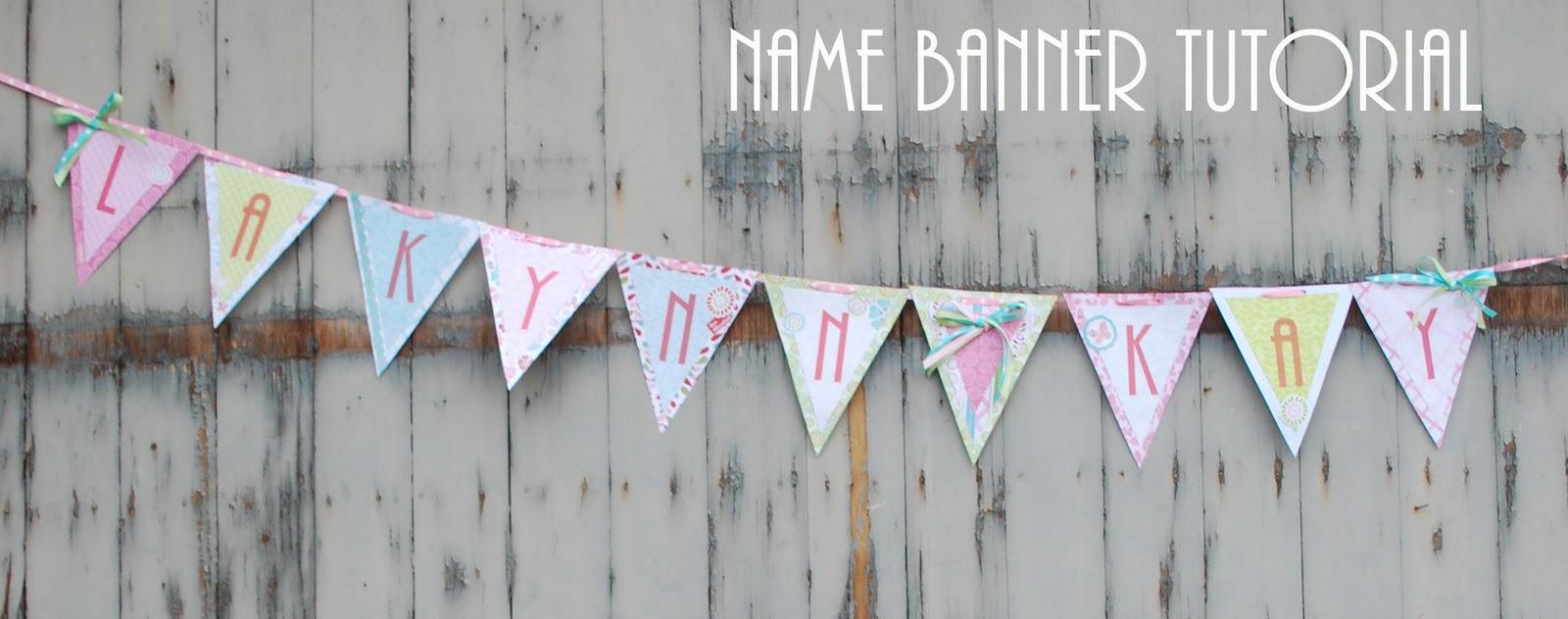 name banner tutorial mommy s little sunshine