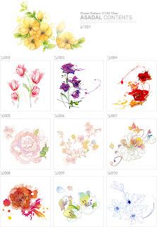 可憐な花びらのパターン beautiful flower pattern style イラスト素材