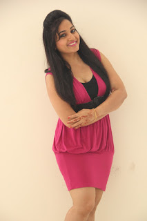Madhavi Latha in Spicy Sizzling Pink Mini Skirt latest Glam pics