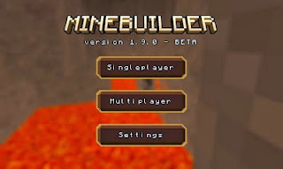 Screenshots of the Minebuilder for Android tablet, phone.