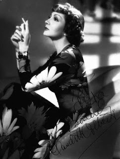 Claudette Colbert Smoking Cigarettes