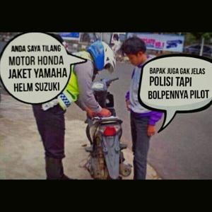 Gambar Dp Bbm Lucu Terbaru kena tilang polisi