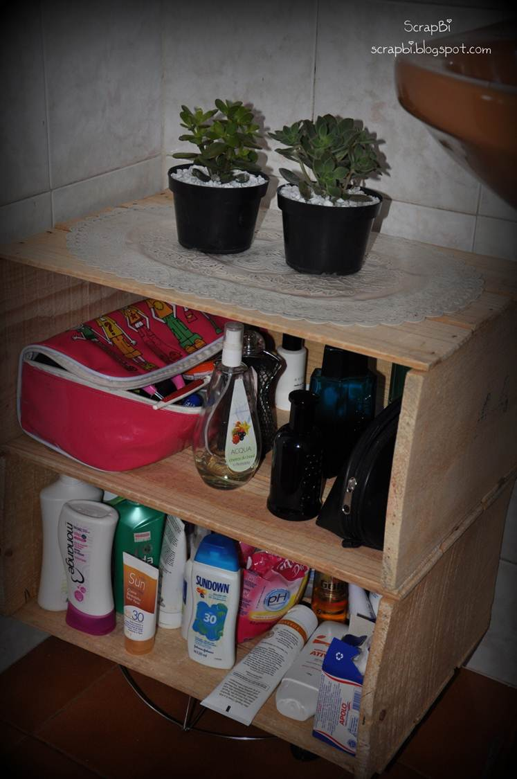 Aparador Sofa Table ~ Caixas de feira Armário do banheiro ScrapBi