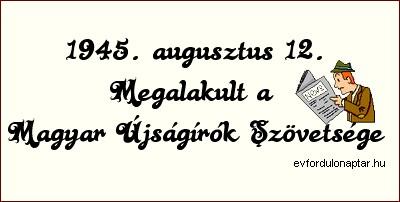 Megalakult a Magyar Újságírók Szövetsége