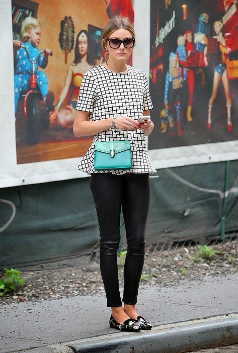 olivia palermo street style leather leggings