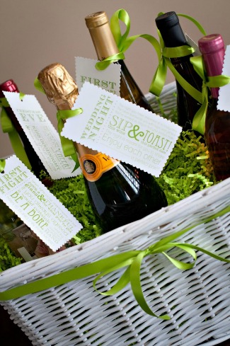 here are a few variations that include poems you may have been to a shower where the basket was given by the bridesmaids and each recited one to the bride